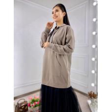Платье-худи с сеткой